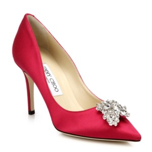 Jimmy Choo pink red Pumps