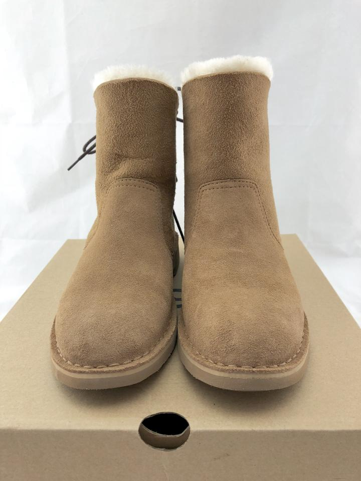 adec2ce4b4d UGG Australia Chestnut Naiyah Lace-back Genuine Shearling Boots/Booties  Size US 6.5 Regular (M, B) 36% off retail