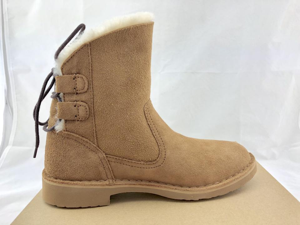 f62a843a037 UGG Australia Chestnut Naiyah Lace-back Genuine Shearling Boots/Booties  Size US 6.5 Regular (M, B) 36% off retail