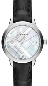 Burberry Burberry Women's Classic Diamond Swiss Quartz Watch, 32mm - 0.022 ctw