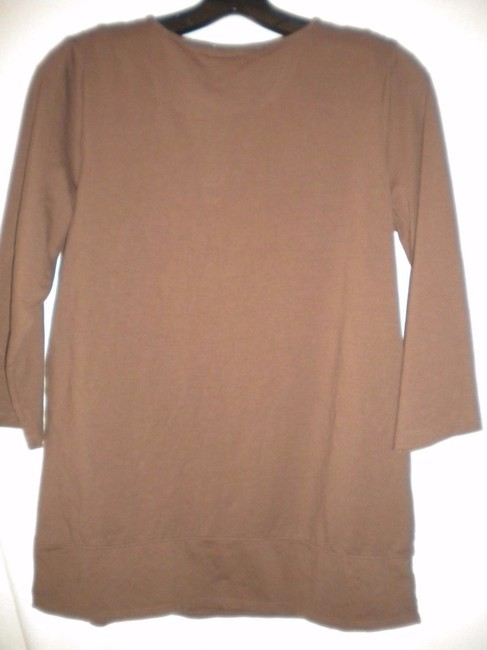 Susan Graver Blouse Shirt 3/4 Sleeve Embroidered Tunic Image 3