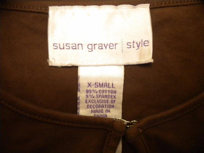 Susan Graver Blouse Shirt 3/4 Sleeve Embroidered Tunic Image 4