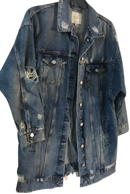 Item - Denim Medium Wash Can Be Worn As A Dress Jacket Size 8 (M)