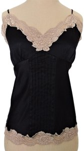 Nordstrom Camisole Lingerie Camisole Lingerie Top Black Silk With Taupe Lace Cami