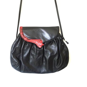 Casadei Leather Vintage Red Shoulder Bag