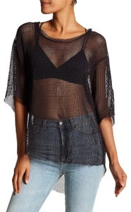 IRO Netted Mesh Oversized T Shirt Dark Gray