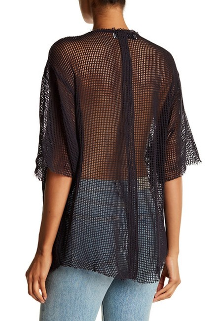 IRO Netted Mesh Oversized T Shirt Dark Gray Image 1