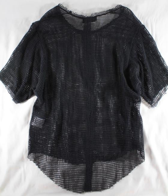 IRO Netted Mesh Oversized T Shirt Dark Gray Image 11
