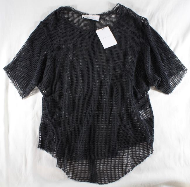 IRO Netted Mesh Oversized T Shirt Dark Gray Image 2