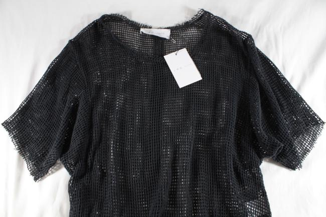 IRO Netted Mesh Oversized T Shirt Dark Gray Image 3
