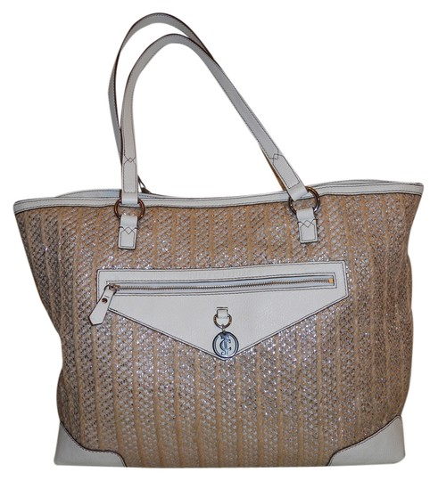 Juicy Couture Tote in tan & white
