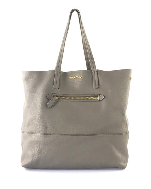 Item - Taupe Grey Leather Tote