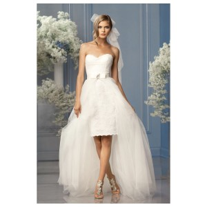 Wtoo Ivory Tulle Watters Riley Destination Wedding Dress Size 6 (S)