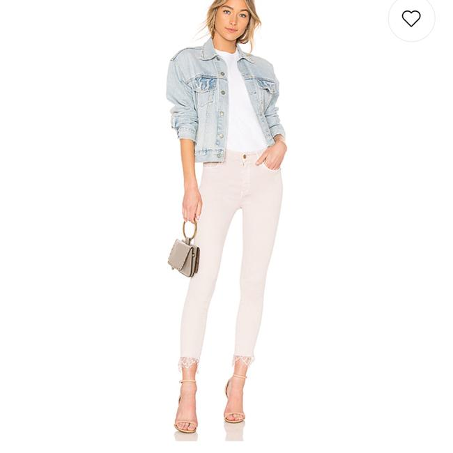 Item - Blush High Waisted Looker Dagger Ankle Fray Skinny Jeans Size 2 (XS, 26)