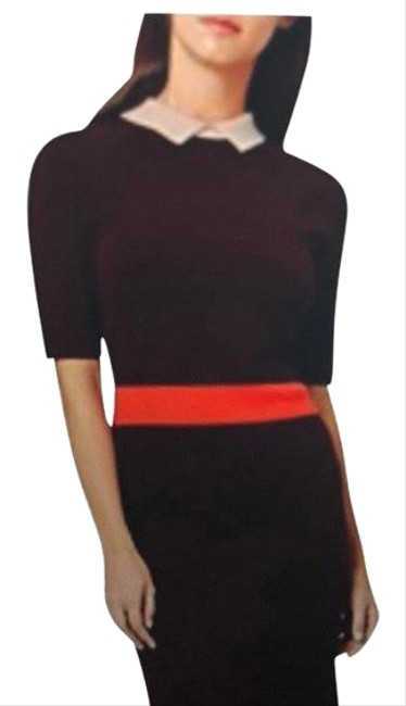 Preload https://img-static.tradesy.com/item/23484781/hobbs-london-brown-orange-figure-flattering-knit-mid-length-workoffice-dress-size-10-m-0-3-650-650.jpg