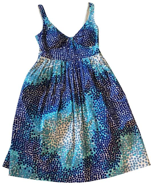 Item - Blue and White Sundress Mid-length Short Casual Dress Size 2 (XS)