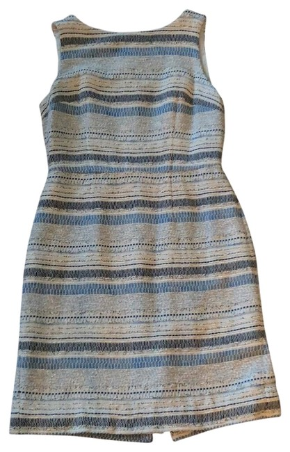 Preload https://img-static.tradesy.com/item/23485047/ann-taylor-blues-and-ivory-tweed-shift-mid-length-short-casual-dress-size-6-s-0-1-650-650.jpg