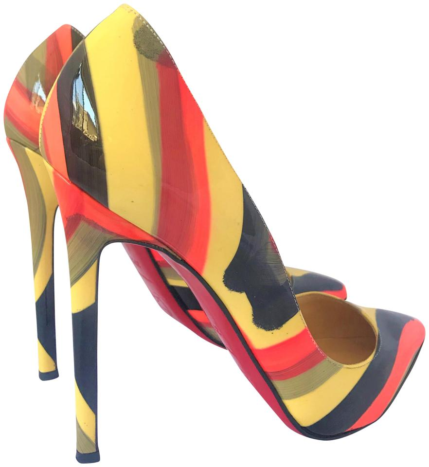 01fd8c921804 Christian Louboutin Multicolor Pigalle 37.5 It Patent Leather High Heel  Lady Red Sole So Kate Toe Pumps
