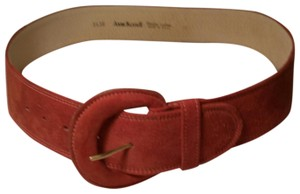 Anne Klein Rust Shaded Suede Leather Belt