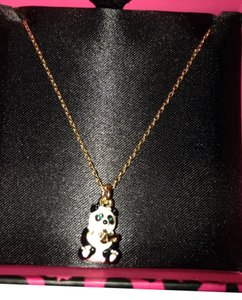 Juicy Couture Juicy Couture Adorable Black And White Panda Bear Necklace