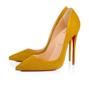 Christian Louboutin Sokate Kate Pigalle Stiletto Classic Yellow Pumps
