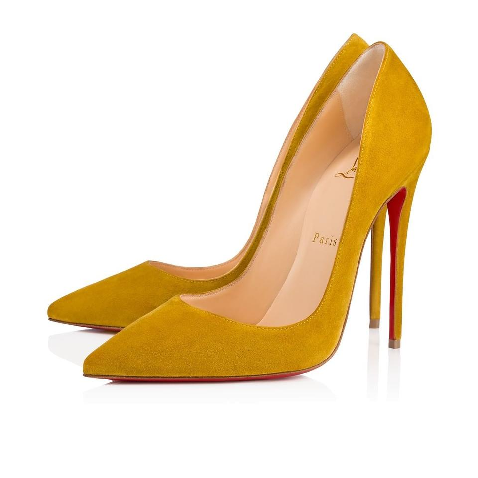 d65799a58 Christian Louboutin Sokate Kate Pigalle Stiletto Classic Yellow Pumps Image  0 ...