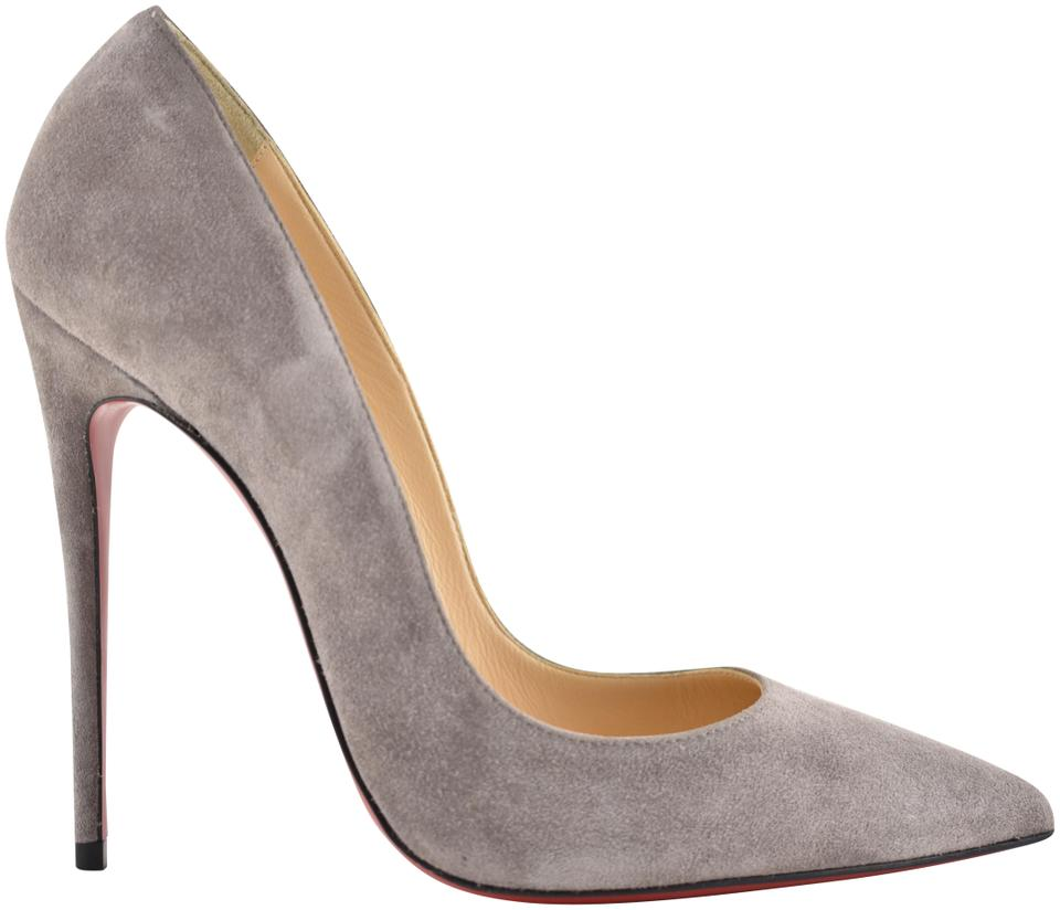 on sale 28ecd e0f27 Christian Louboutin Grey So Kate 120 Storm Suede Pointed Classic Heel Pumps  Size EU 40 (Approx. US 10) Regular (M, B)