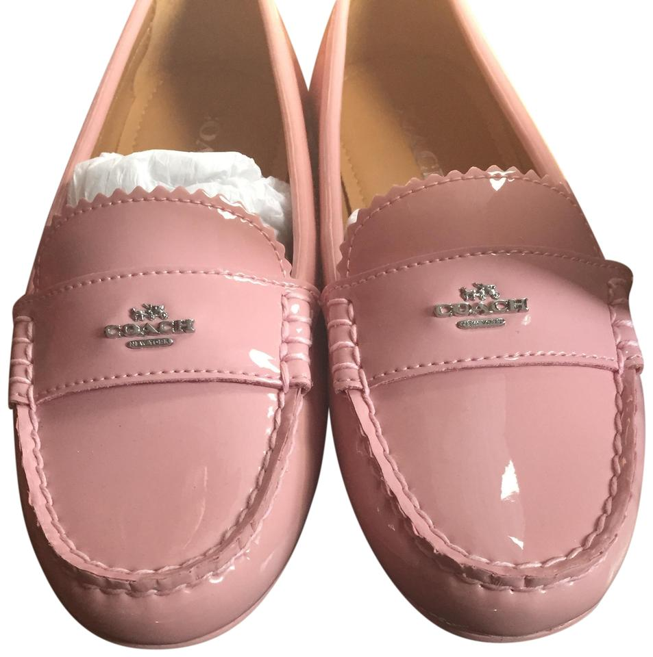 4ecb2524664 Coach Pink Odette Patent Leather Loafers Flats Size US 6.5 Regular ...