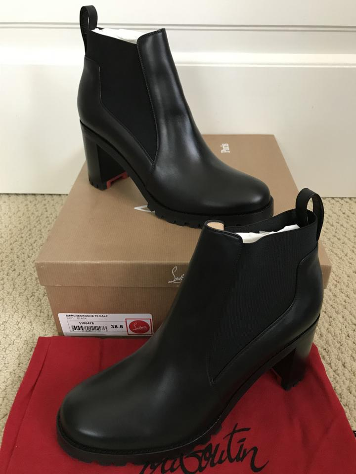 9882245fadf Christian Louboutin Black Marchacroche 70 Leather Ankle Boots/Booties Size  EU 38.5 (Approx. US 8.5) Regular (M, B) 34% off retail