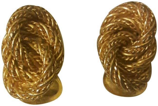 Dior Gold Golden Knotted Earrings Dior Gold Golden Knotted Earrings Image 1