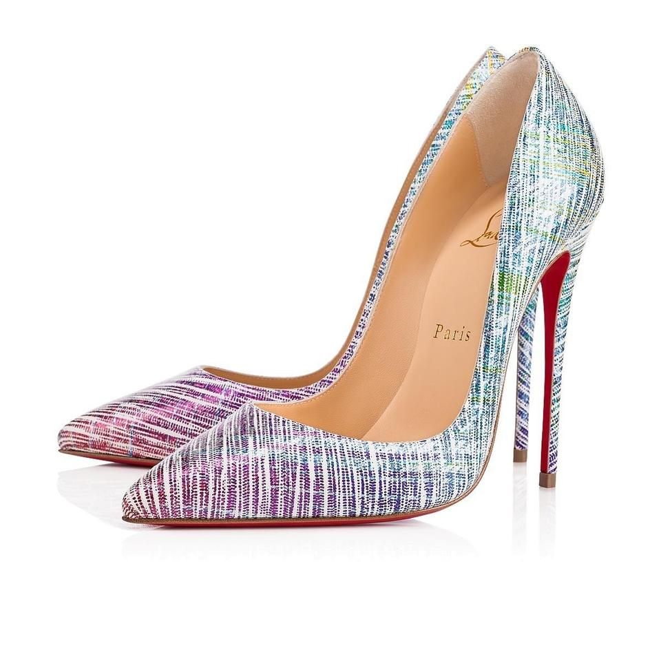 e09728852839 Christian Louboutin Sokate Kate Pigalle Stiletto Classic Blue Pumps Image 0  ...