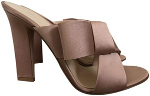 Gianvito Rossi Satin Bow Pumps Blush Pink Mules