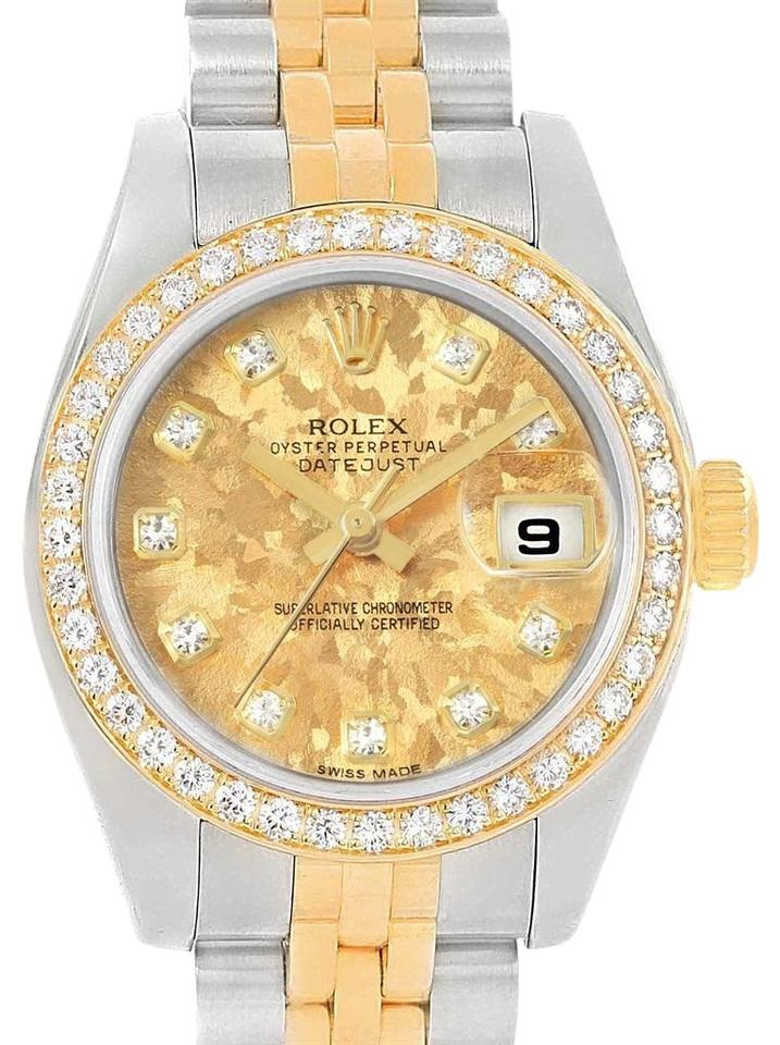 3f6181fee42 Rolex Rolex Datejust Gold Crystal Dial Steel Yellow Gold Diamond Watch  Image 0 ...