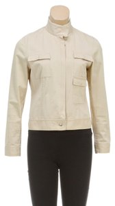 Max Studio Beige Womens Jean Jacket