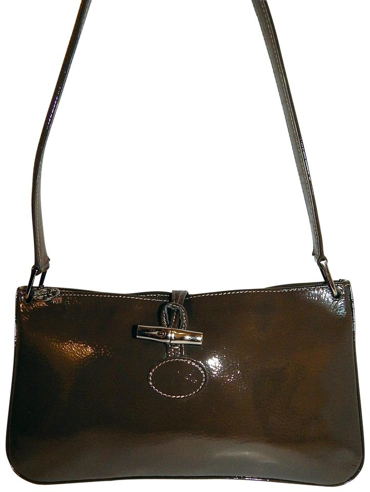 7cc40215f Longchamp Roseau Brown Patent Leather Shoulder Bag - Tradesy