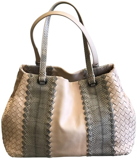 Preload https://img-static.tradesy.com/item/23486937/bottega-veneta-snake-and-napa-leather-pink-tote-0-1-540-540.jpg