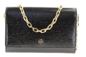 Tory Burch Patent Leather Robinson Gold Cain Cross Body Bag