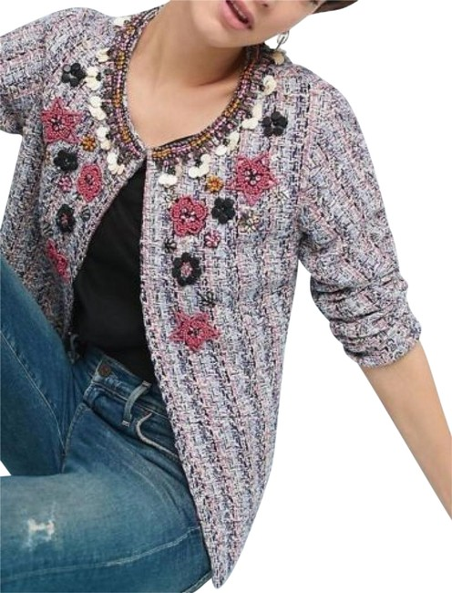 Item - Multi Color Suzy Embellished Tweed By Summer Of Love Jacket Size 4 (S)