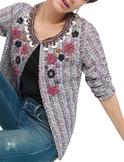 Item - Multi Color Suzy Embellished Tweed By Summer Of Love Jacket Size 8 (M)