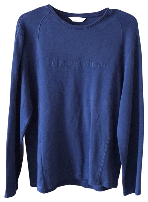 Preload https://img-static.tradesy.com/item/23487054/calvin-klein-blue-classic-fit-new-without-tag-men-s-tee-shirt-size-8-m-0-1-650-650.jpg