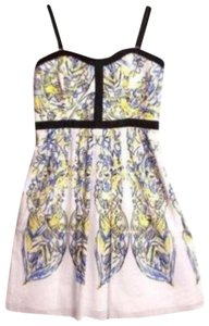 Cynthia Rowley short dress blue, yellow on Tradesy
