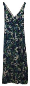 blue green white floral Maxi Dress by Rebecca Taylor