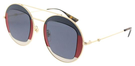 Preload https://img-static.tradesy.com/item/23487702/gucci-redwhitebluegold-gg0105s-005-striped-metal-round-lens-sunglasses-0-1-540-540.jpg