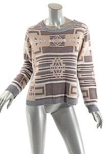 Margaret O'Leary Cotton Geometric Sweater