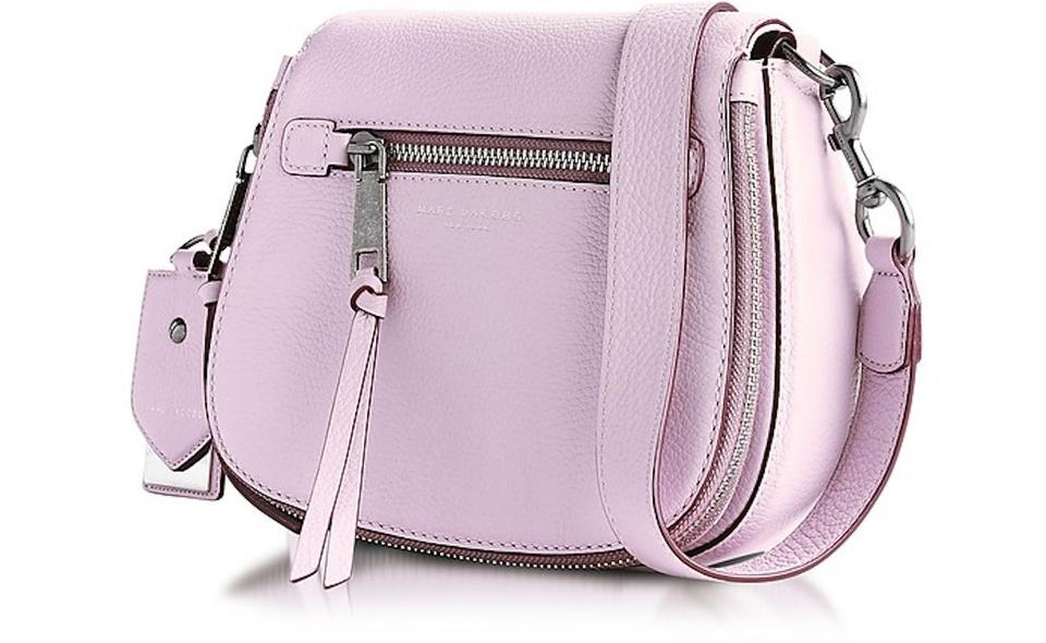 675f127e6 Marc Jacobs Small Recruit Pale Lilac Pebbled Saddle Pink Leather ...