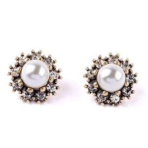 Kate Spade Pearl & Crystal Earrings