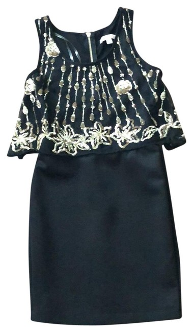 Item - Black Gold Sequin Short Night Out Dress Size 0 (XS)