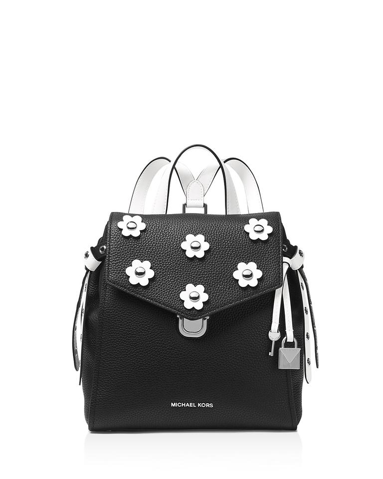 28220cf1cd08 MICHAEL Michael Kors Bristol Small Black  White Leather Backpack ...