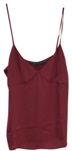 House of Harlow 1960 Polyester Camisole Strappy V-neck Top burgandy
