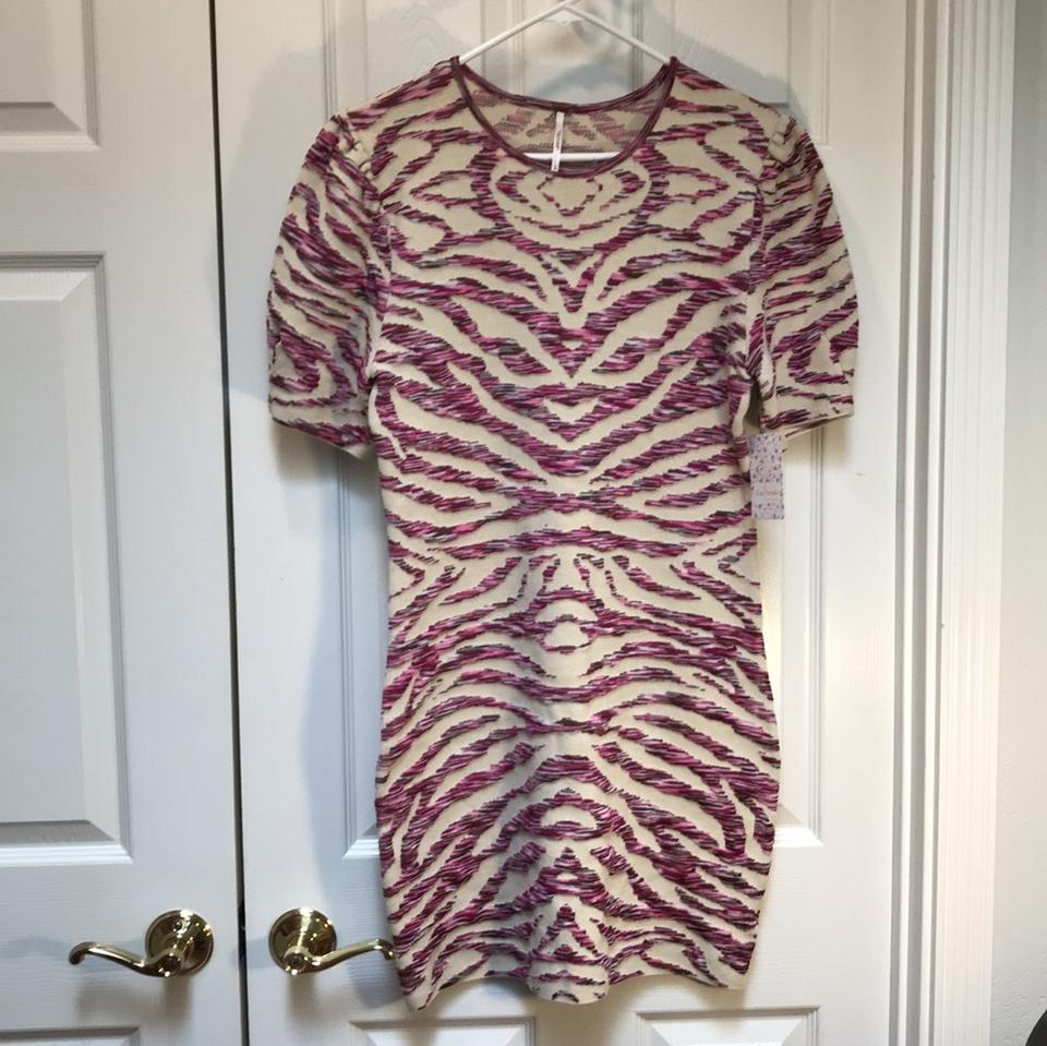 60320af5a1 Free People Ivory Take Me Animal Print Mini Short Night Out Dress Size 12 (L)  - Tradesy